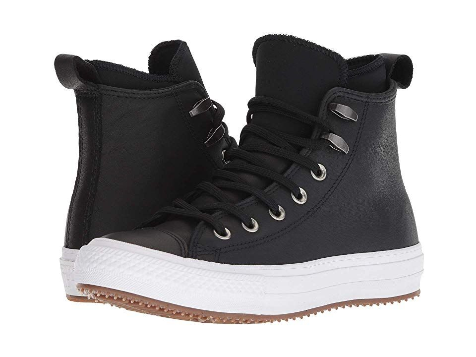 866ba08d6c1e5e Converse Chuck Taylor All Star Waterproof Boot (Black Black White) Women s  Shoes. Converse keeps the rain at bay with the Chuck Taylor All Star  Waterproof ...