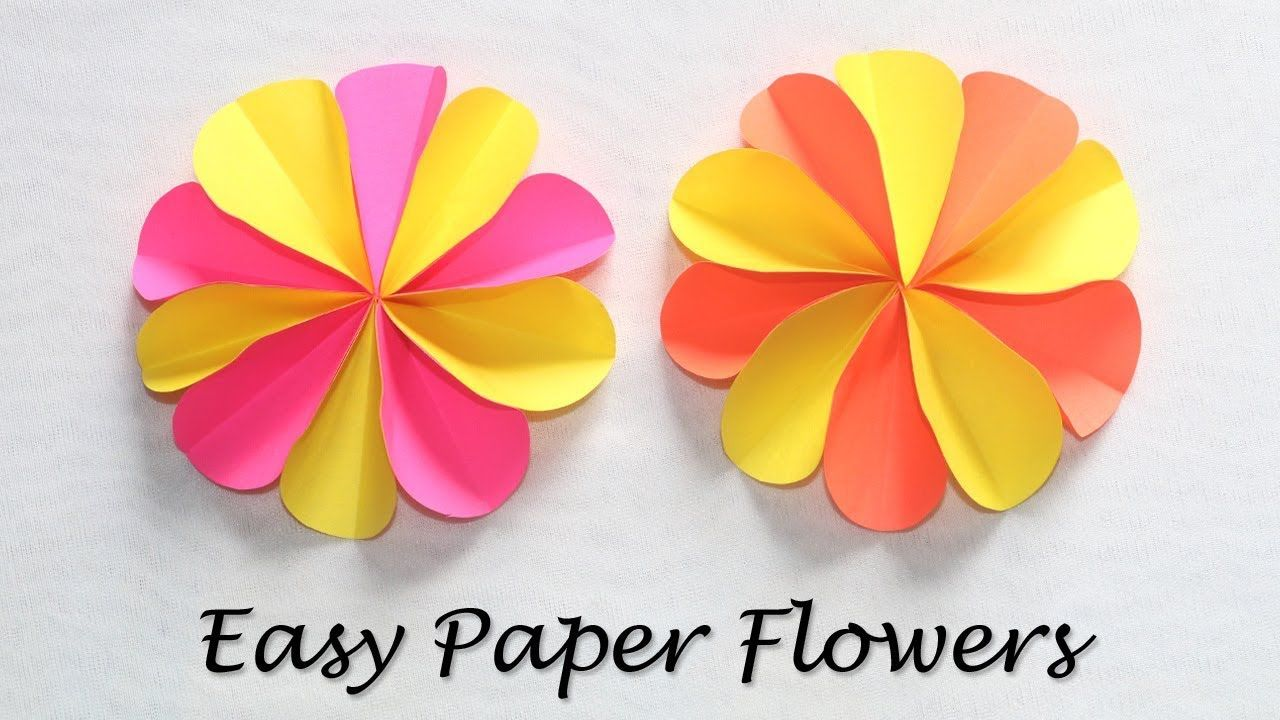 How To Make Paper Craft Flowers Colorful Paper Flowers Easy Diy