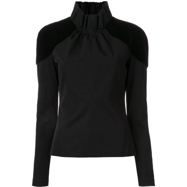 Bianca Spender Stripe Sabre blouse (114.730 HUF) via Polyvore featuring tops, blouses, black, stripe blouse, stripe top, striped blouse and striped top