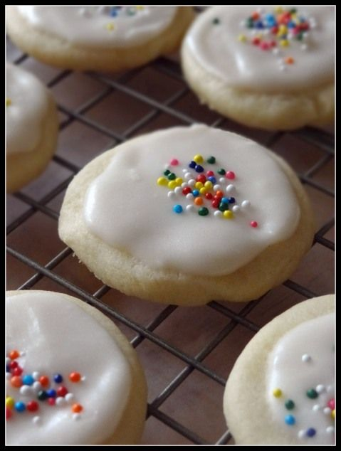 The Treat Trucks Sugar Dots. Adorably small buttery, tender sugar cookies frosted with vanilla buttercream.