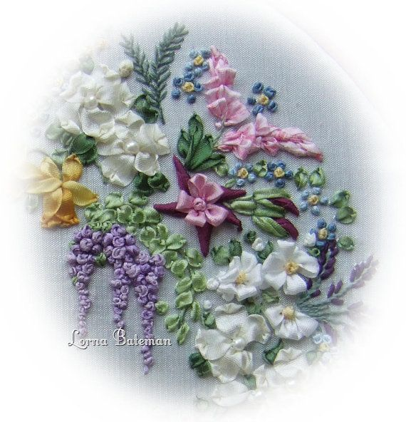 Silk Ribbon Embroidery - Large Garland - Full kit