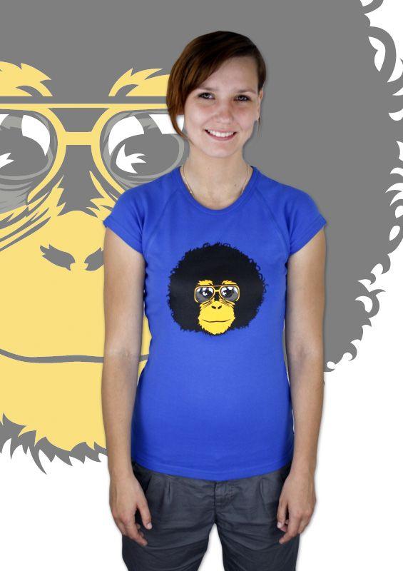 Retro Affe Damen T-Shirt    http://www.bastard-shop.de/damen-t-shirts/retro-affe-blaues-damen-t-shirt-640/