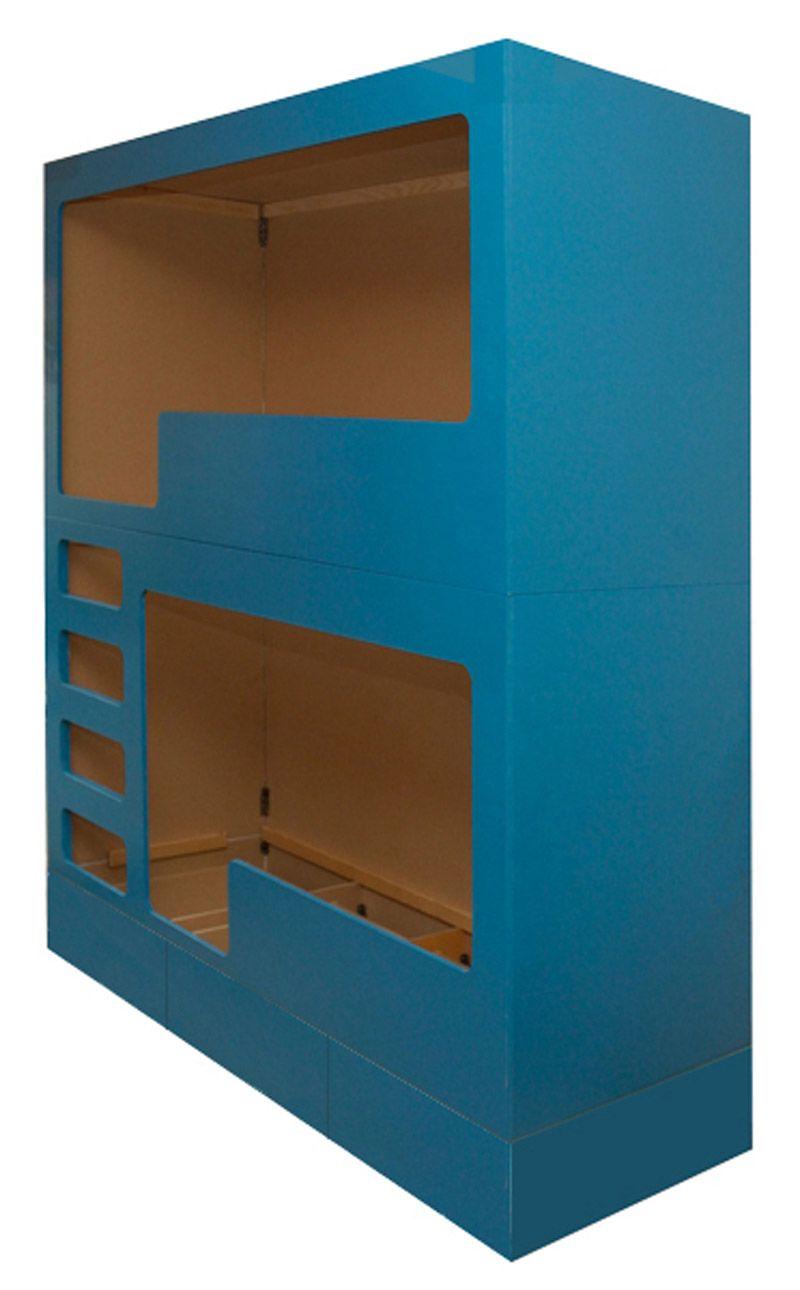 Loft bed with desk blue  DIY