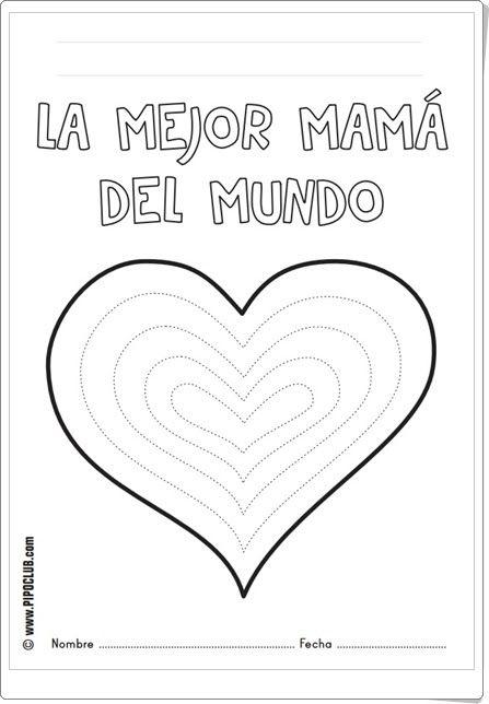 Dia De La Madre La Mejor Mama Del Mundo Fichas De Recortables