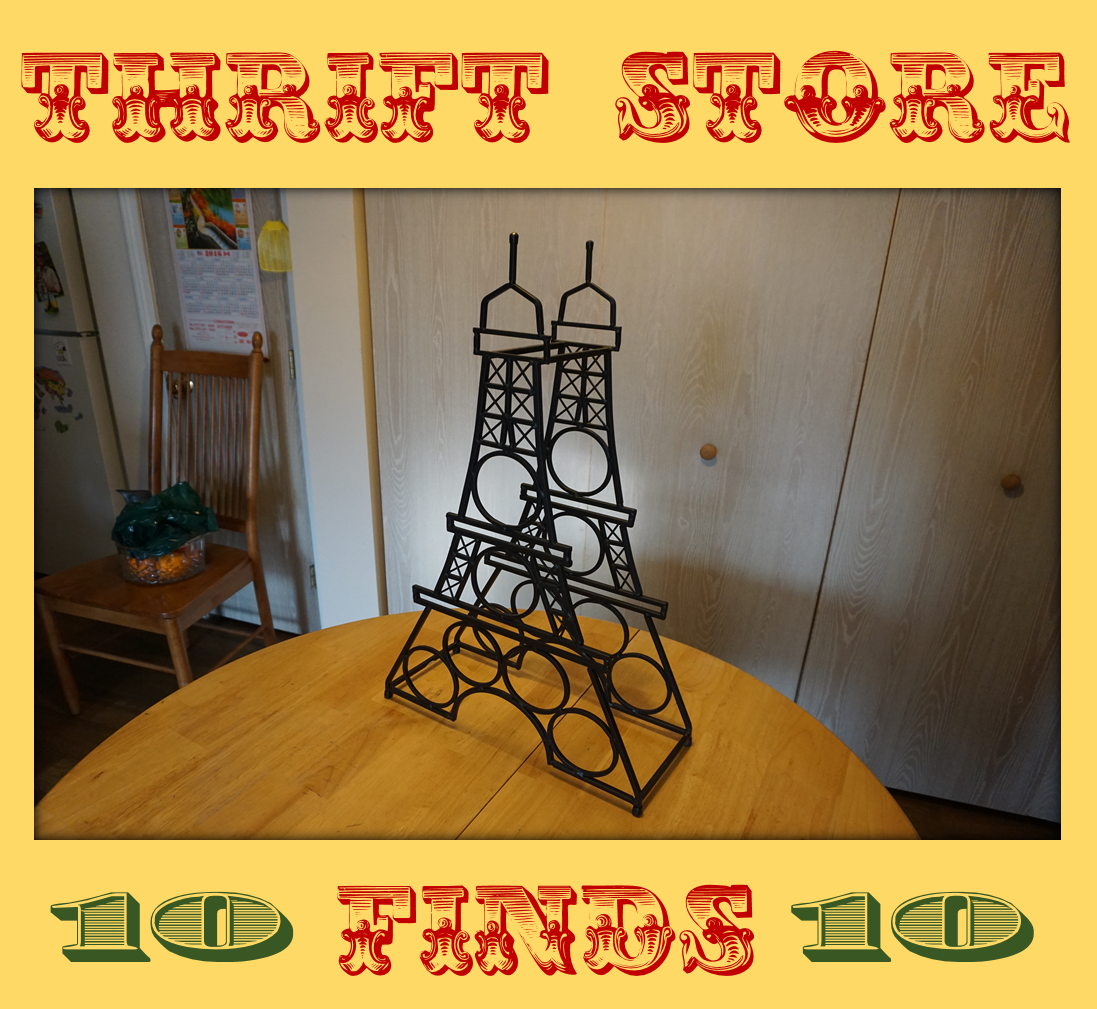 Thrift Store Finds Eiffel Tower Wine Rack For 10 Dollars