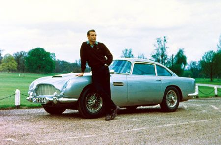 Sean '007' Connery & his Aston Martin