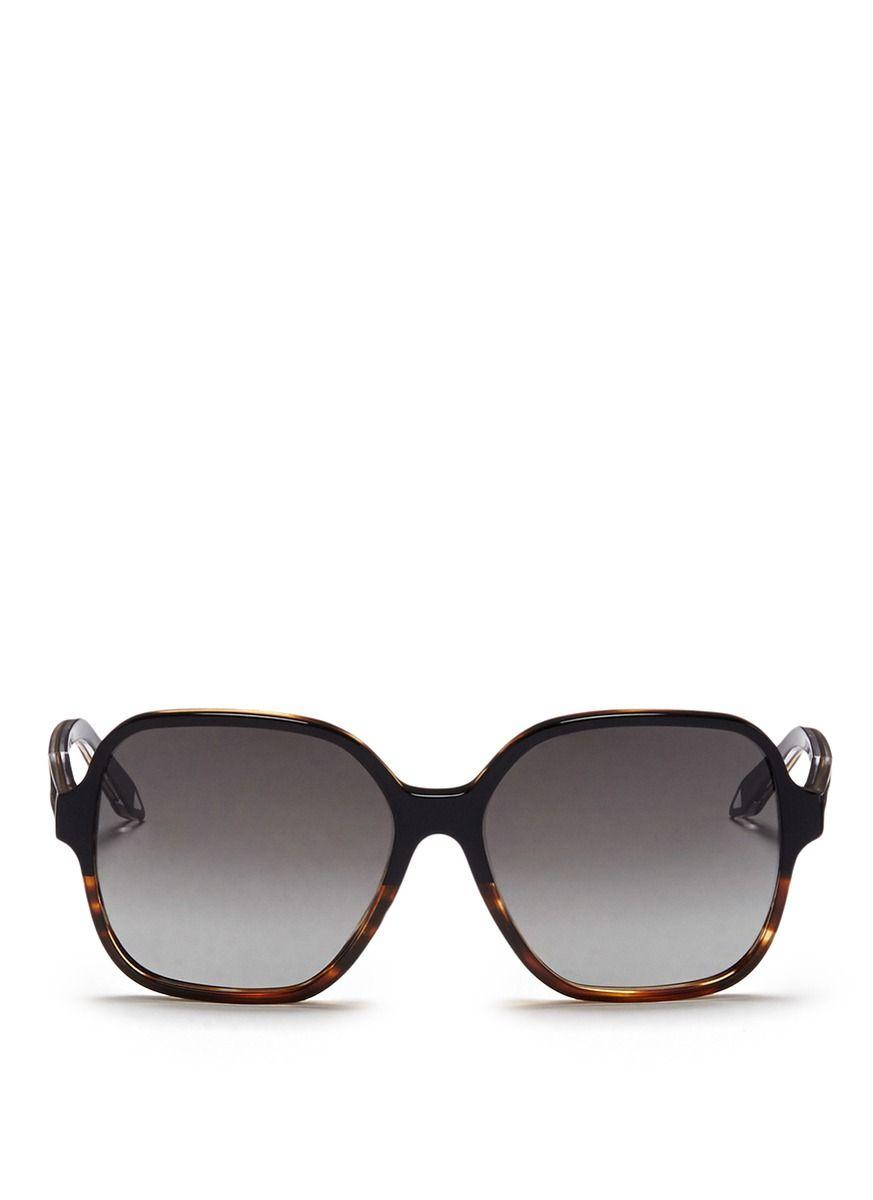 Victoria Beckham Woman Iconic Square-frame Tortoiseshell Acetate And Gold-tone Sunglasses Black Size Victoria Beckham u2lo2g