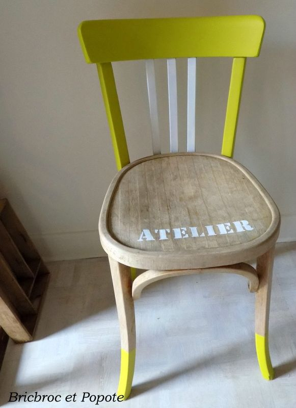 Chaise Baumann relookée FauteuilChaise relooké Pinterest - comment patiner un meuble en merisier