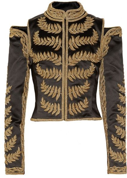 Alexander McQueen Embroidered Silk-satin Cropped Jacket media gallery on  Coolspotters. See photos, videos, and links of Alexander McQueen Embroidered  ...