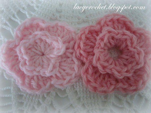 Lacy Crochet One Pattern Two Flowers Teresa Restegui Http
