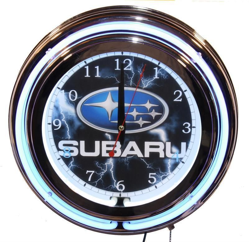 Subaru Car Neon Clock New Wall Clock Lifestyle Lighting Neon Clock Subaru Cars Subaru