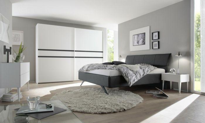 1001 ideas de c mo pintar un dormitorio en tu casa - Pintar paredes blancas ...