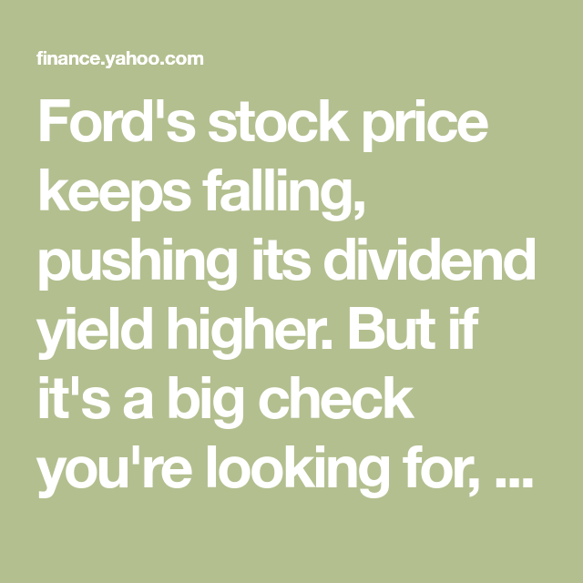 3 Dividend Stocks That Pay You Better Than Ford Does Dividend