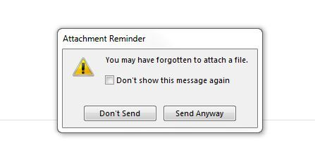 email attachment message