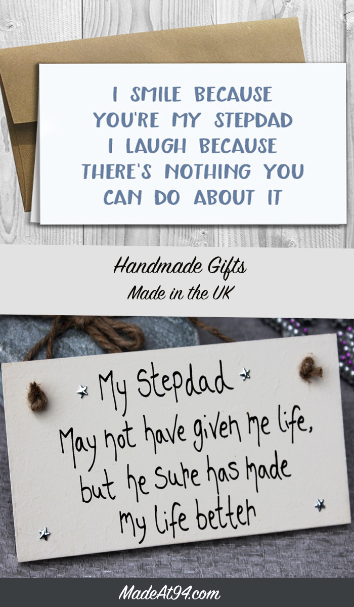 Stepdad Gift Plaque For Birthday and Father's Day Present