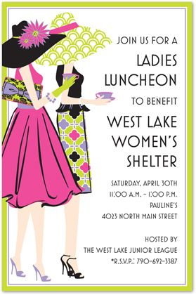 ladies lunch flyer women s ministry invitations party tea party