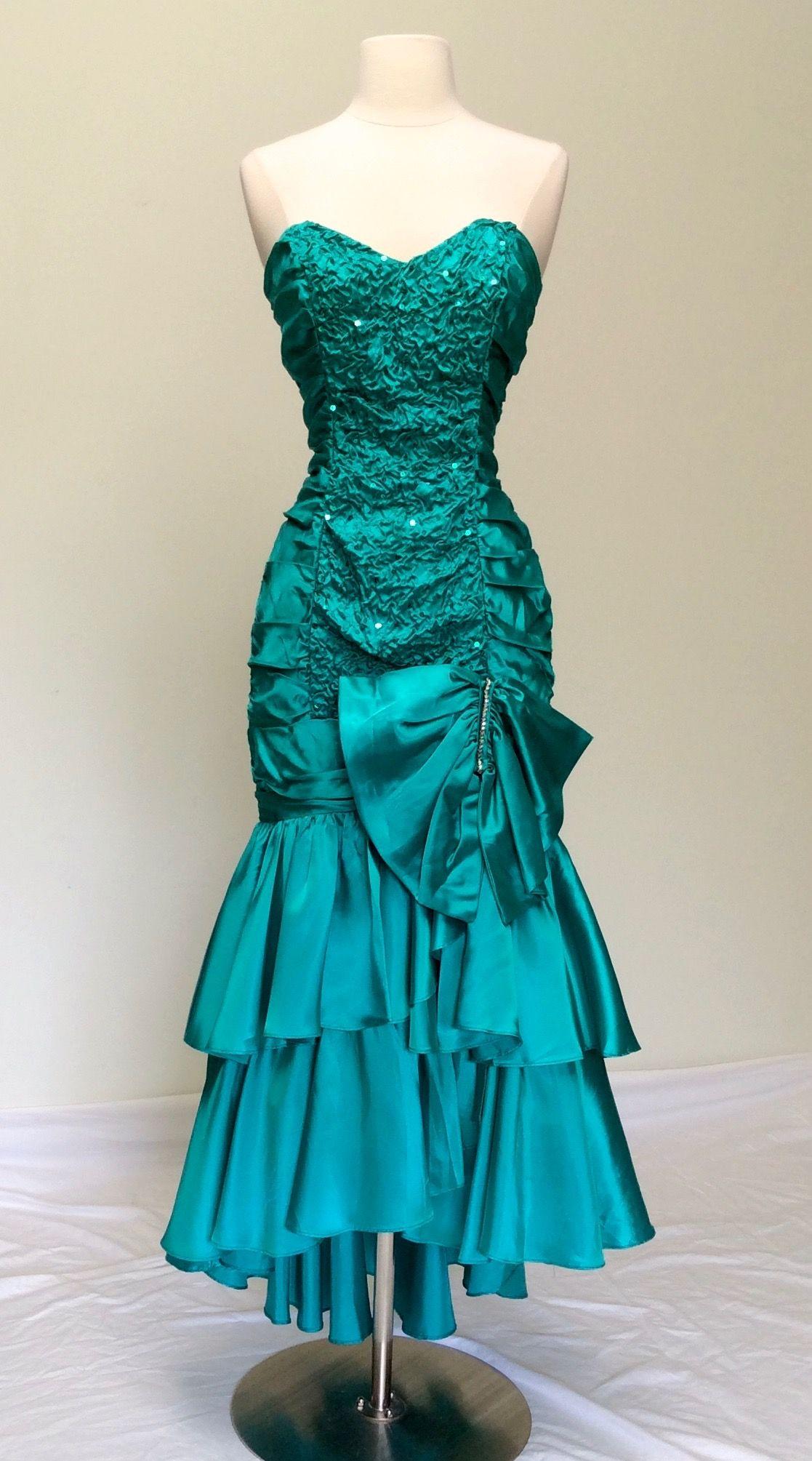 ZUM ZUM Strapless Long Dress Aqua Satin Mermaid Fishtail Sequin ...