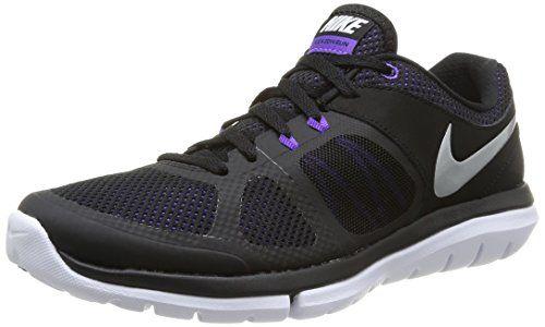 Nike 642767 006 Wmns Flex 2014 Rn Damen Sportschuhe - Running Mehrfarbig (Blk/Mtllc Slvr-Hypr Grp-White) 38