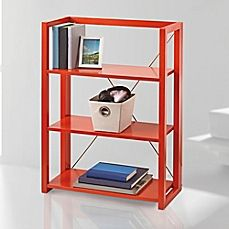 Image Of Wooden Folding And Stacking Bookcase