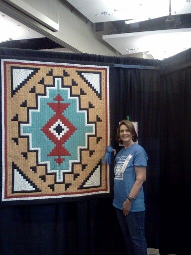 Navaho Hills quilt I made for my daughter