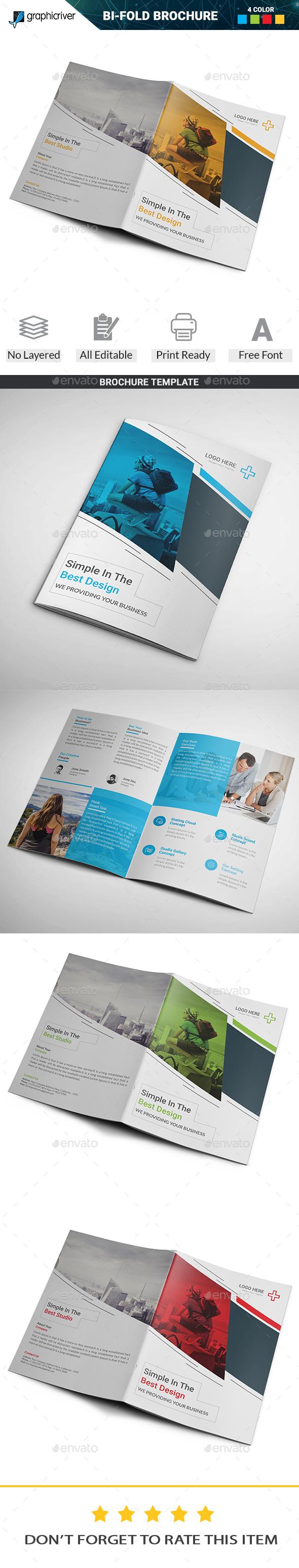 BiFold Brochure Template Ai Illustrator  Brochure Templates