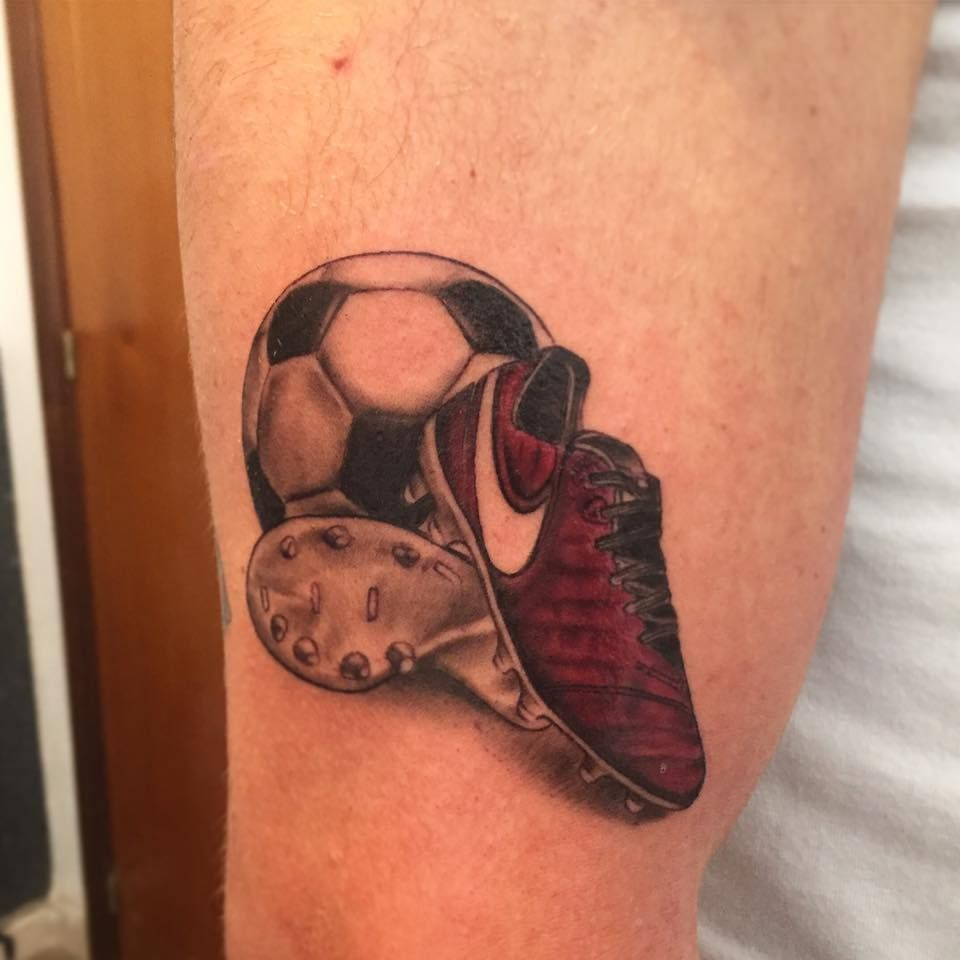 93ee44d9e Football tattoo by Cristian! Limited availability at Revival Tattoo Studio.