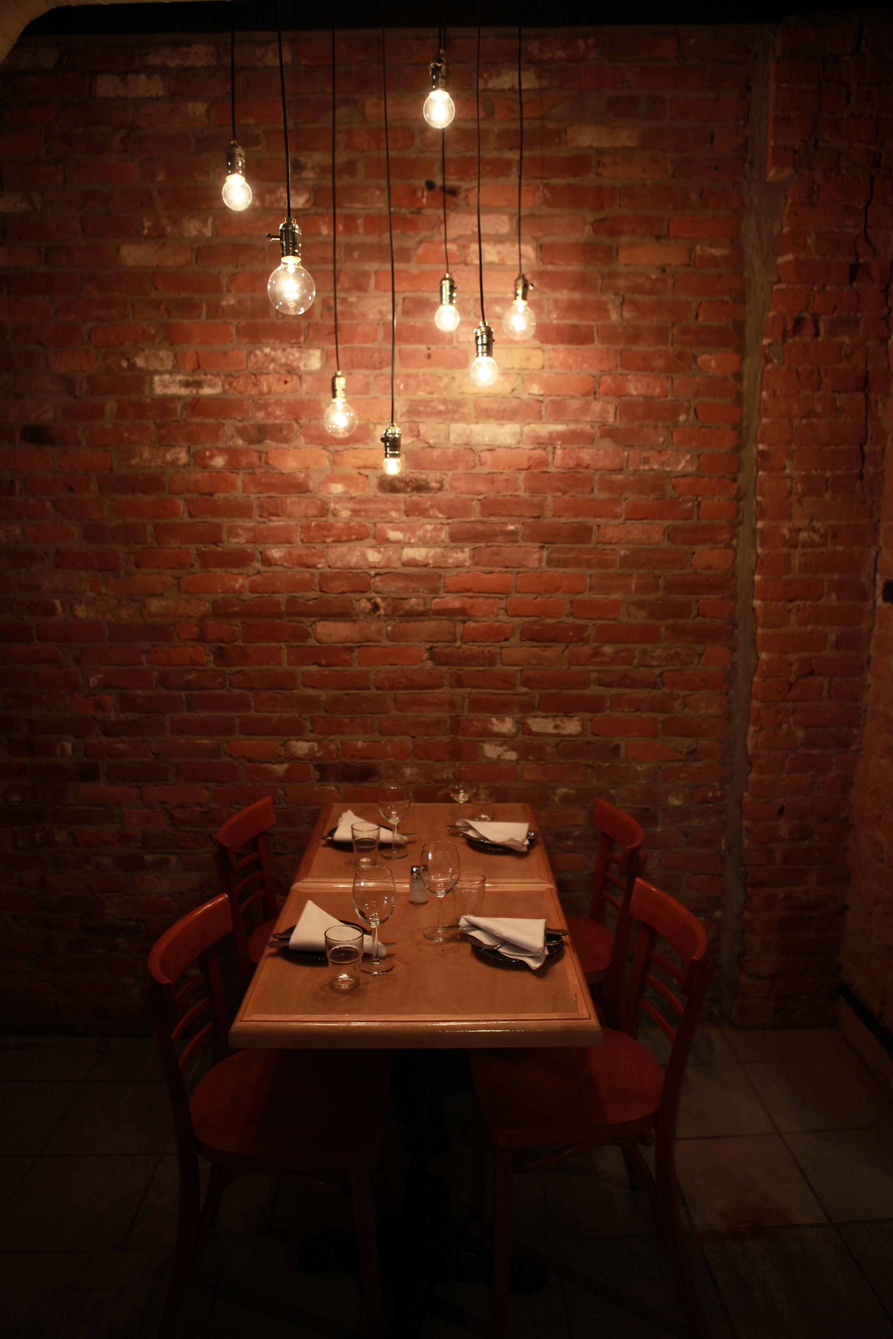 Bistro, bar, restaurant, rustic, cozy, wood, brick, design, warm ...