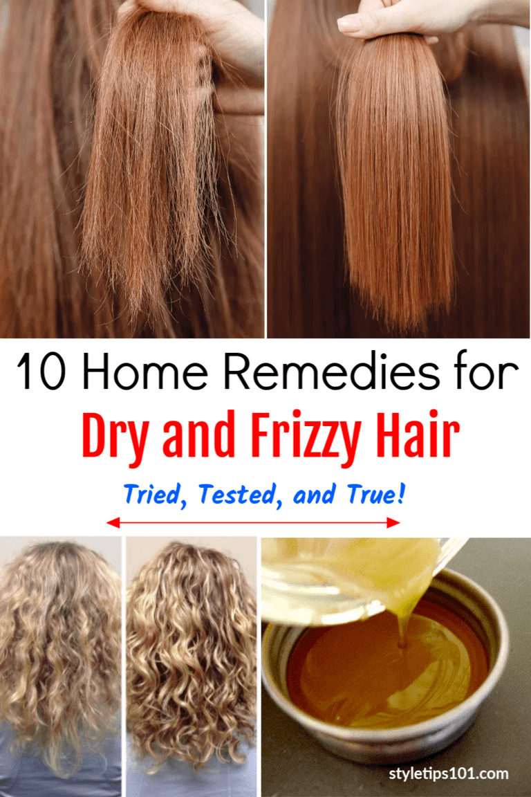 10 Home Remedies for Dry and Frizzy Hair | Dry hair treatment