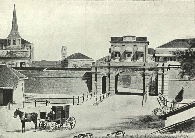 Image result for FORT BOMBAY WITH FORT WALLS 1850