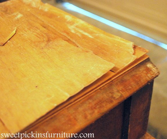 Fixing my table with the peeling veneer  Craft Ideas  Pinterest