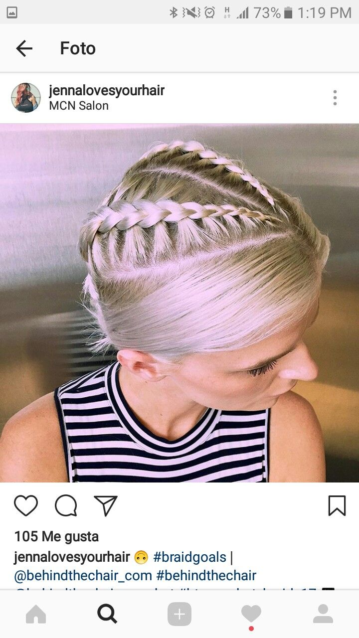 Blonde mohawk braid trenza styles pinterest mohawks and blondes