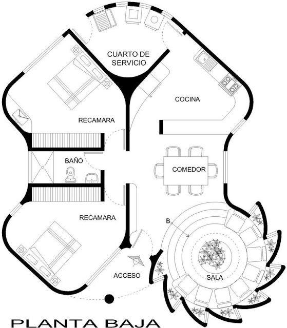 Planos diferentes plano de casa reguilete tiny houses for Plantas arquitectonicas minimalistas