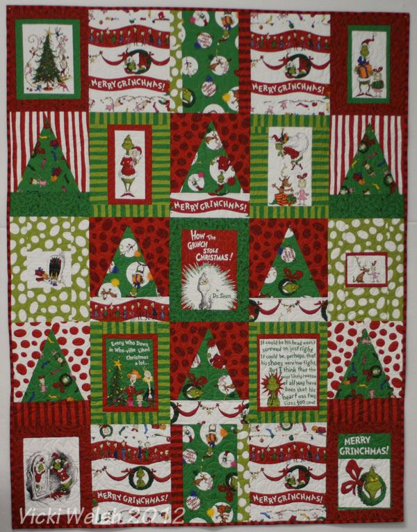 Grinch Quilt 2 Holiday Quilts Christmas Quilts Christmas Placemats