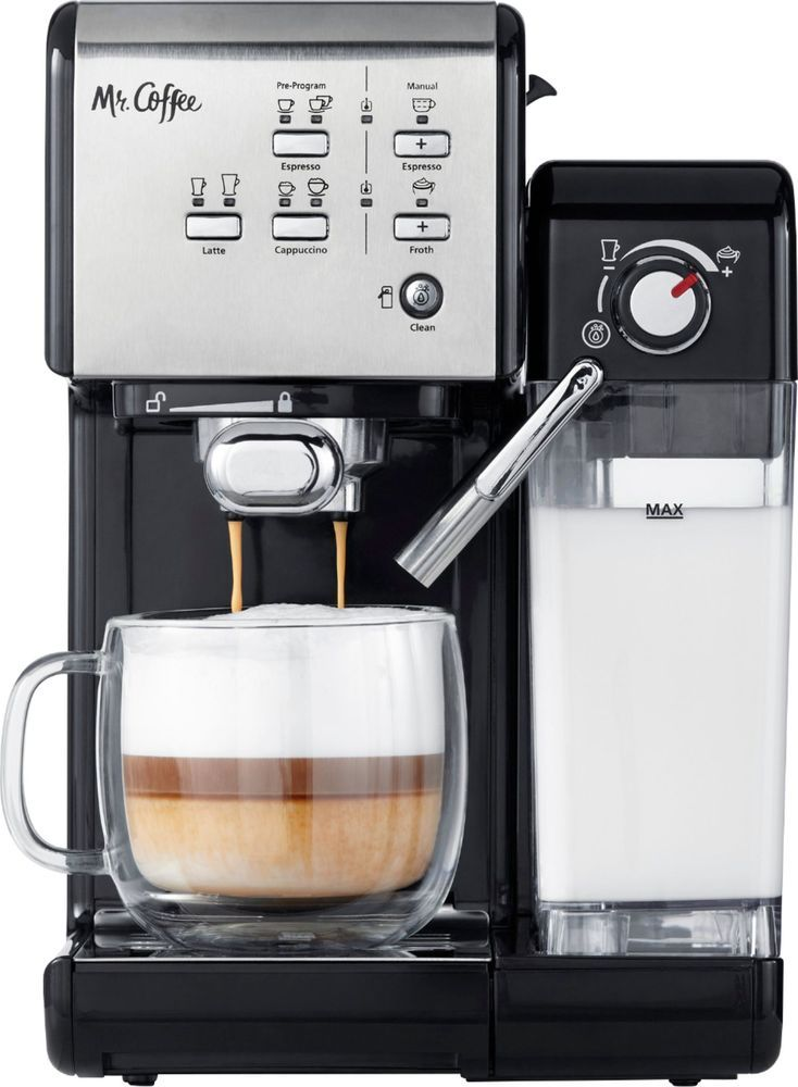 Mr. Coffee - Espresso Machine - Stainless Steel #cappuccinomachine