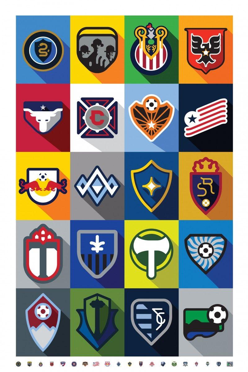 MLS All Teams Minimalist Logo Futbol Artist Network