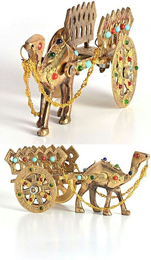 The Hue Cottage Camel Cart Showpiece Rajasthani Handcrafted Interior