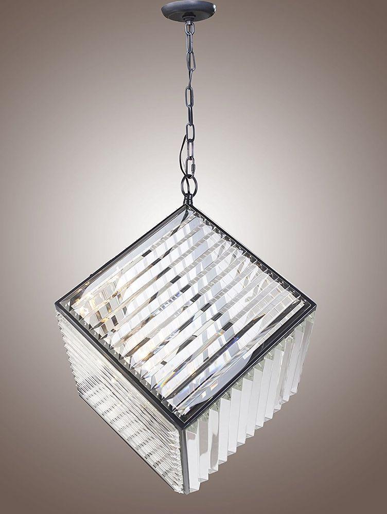 20 crystal cube timothy oulton rex diamond pendant chandelier fixture