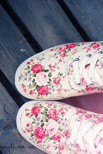 Sepatu Unik Floral Shoes Shoes Floral Sneakers