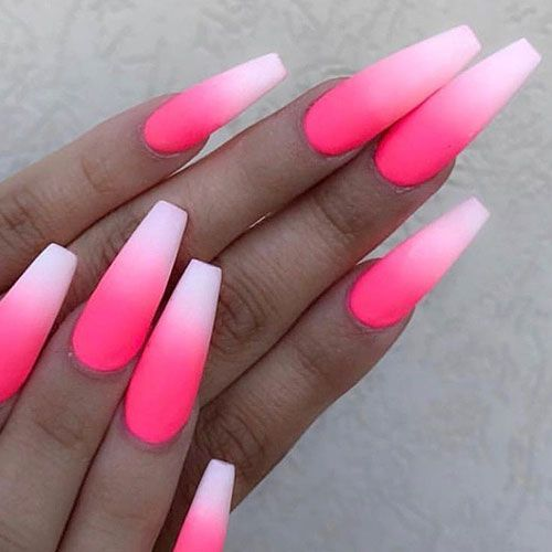 59 Best Matte Nail Designs Colors Ideas 2020 Guide In 2020 Pink Ombre Nails Pink Acrylic Nails Ombre Acrylic Nails