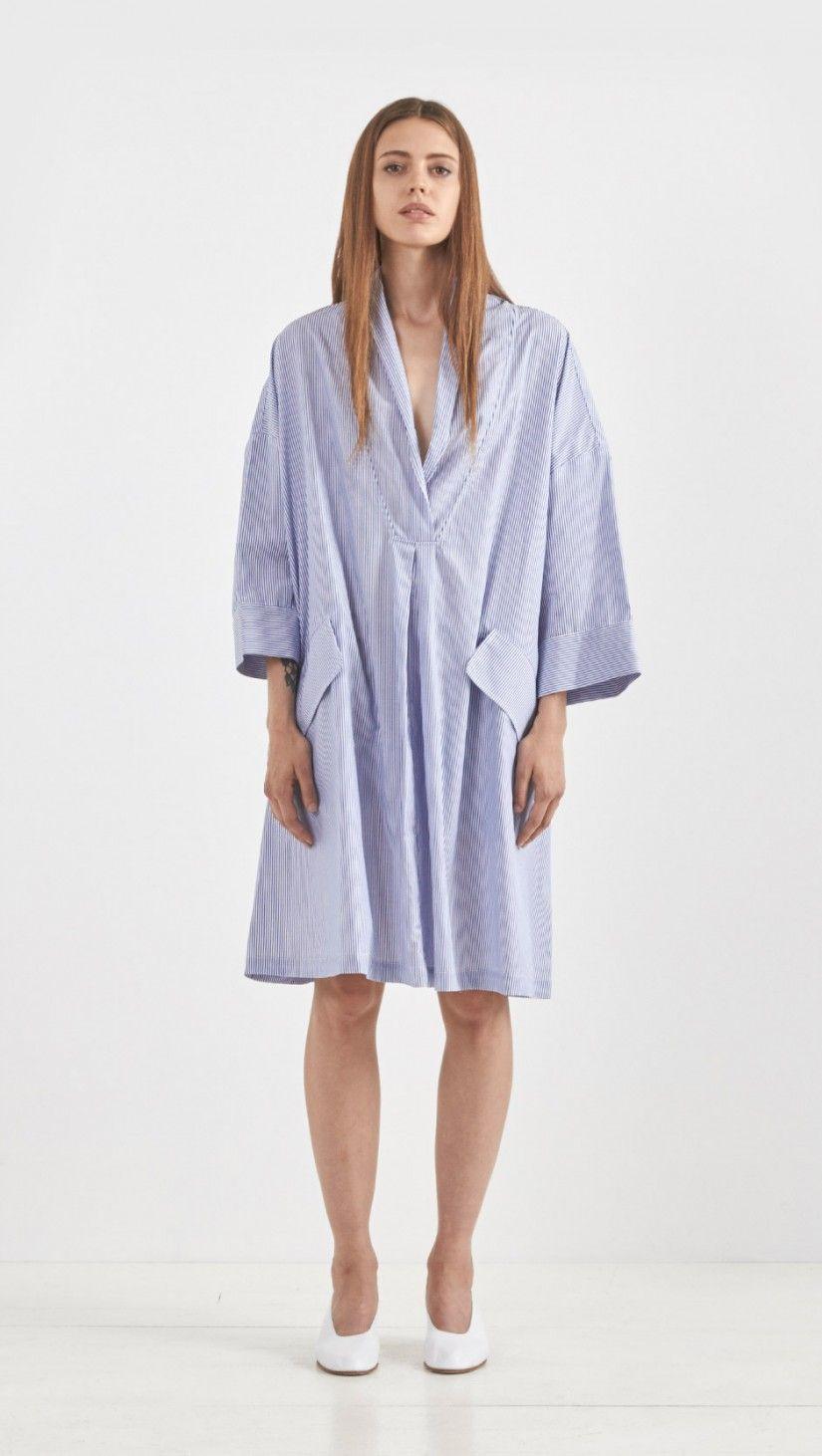 Rachel Comey Striped Tobes Dress in Blue | The Dreslyn