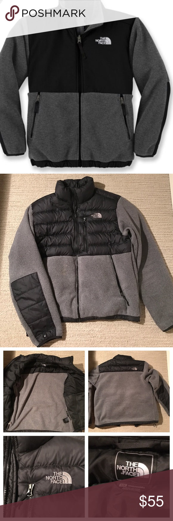 Men S Northface Fleece Down Jacket 550 Rn 61661 The North Face