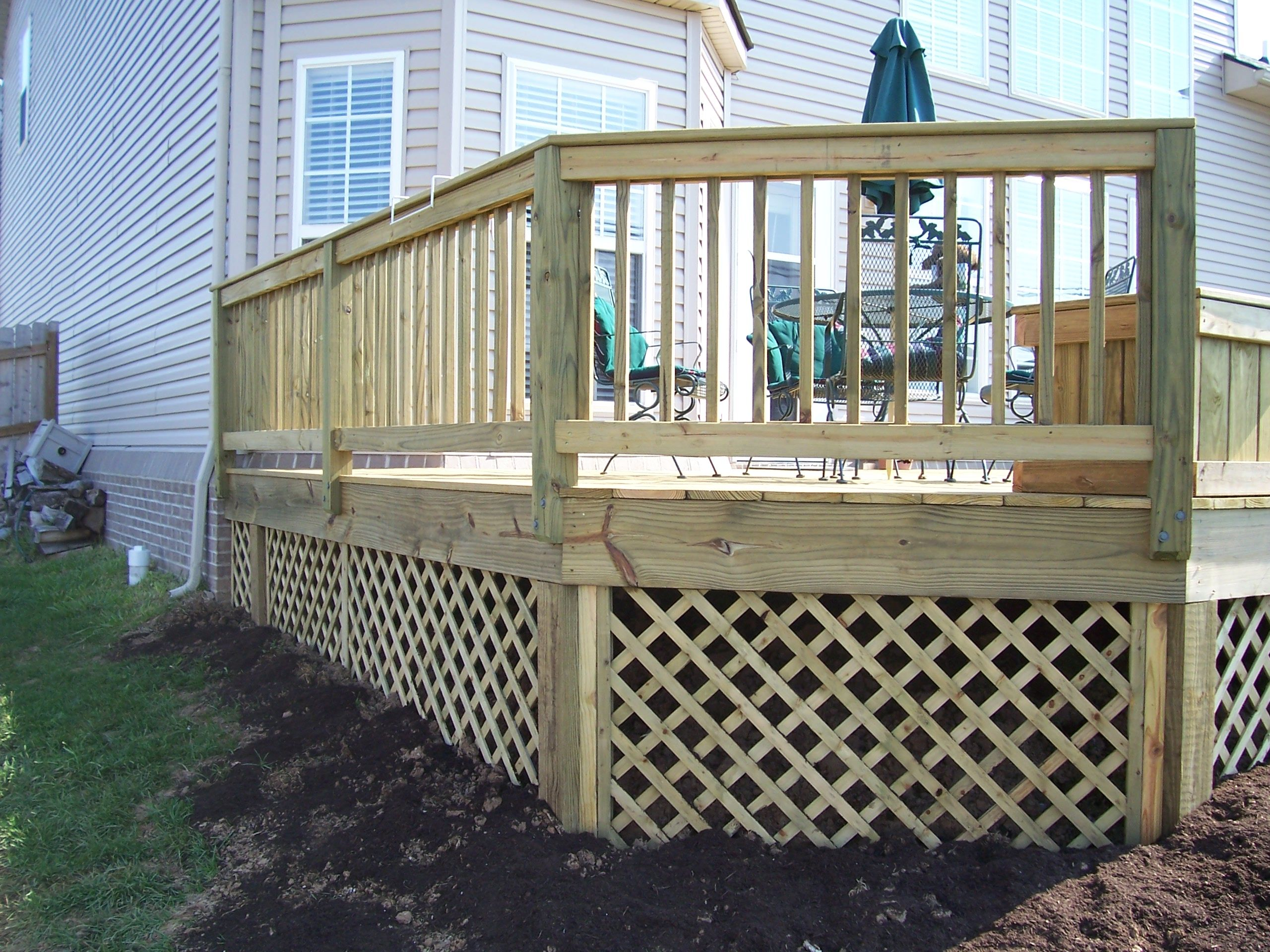 Wood Lattice Under Deck Garden Amp Landscaping Pinterest