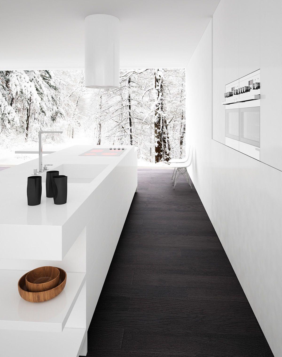 40 schöne Black & White Küche Designs – Neueste Dekor