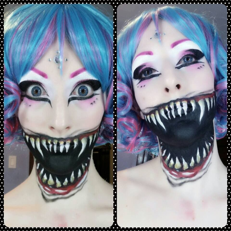 this creepy cute demonic fairy tutorial halloween cosplay makeup was inspired by at first winter then just wanted to do a fairy then i had