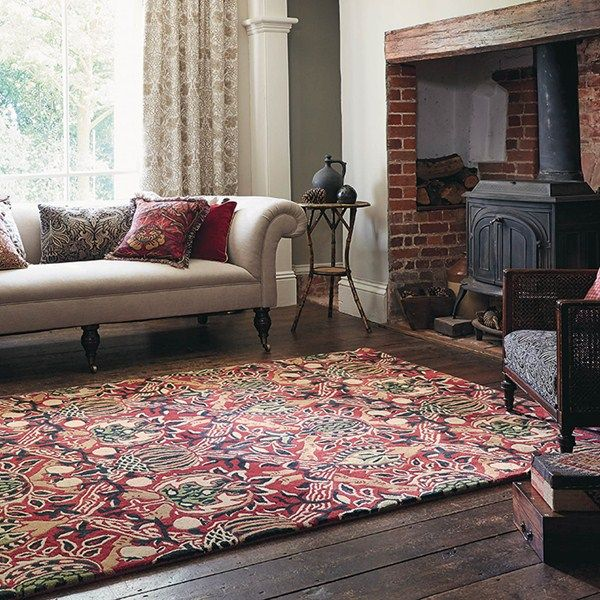 Granada Rugs 27600 In Red And Black By William