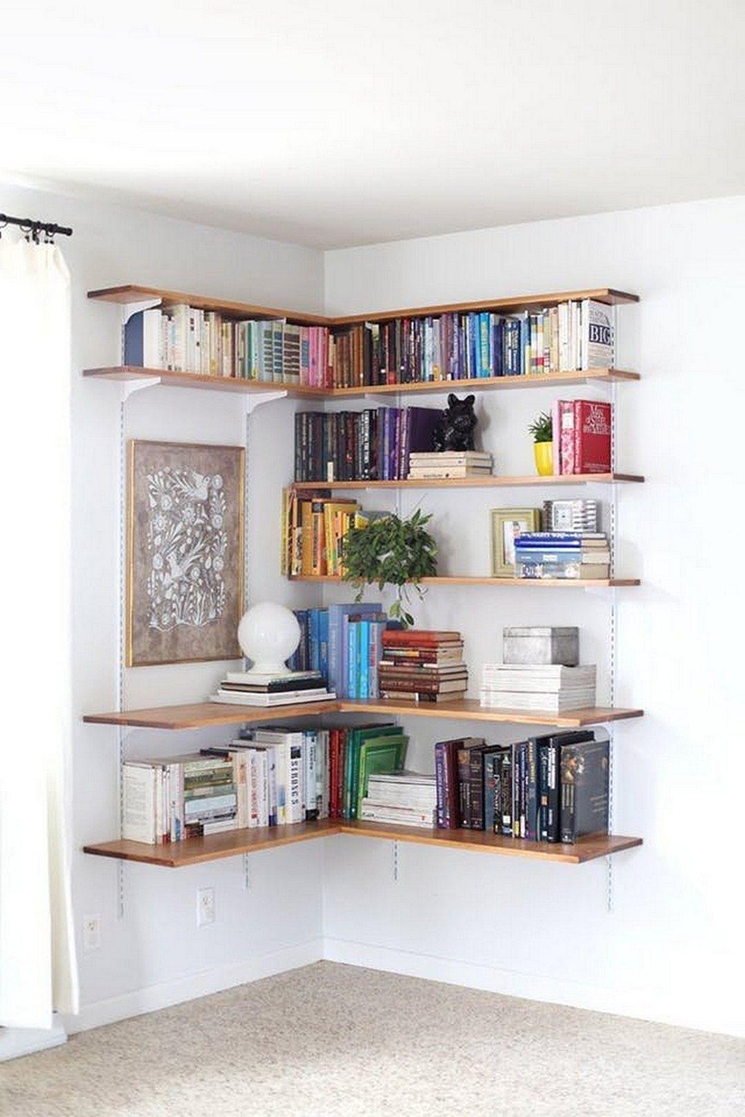10 Best And Awesome Living Room Corner Bookcase Ideas Shelves In Bedroom Corner Shelf Design Diy Corner Shelf