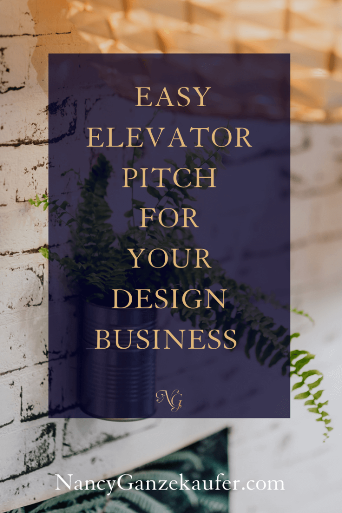 5 Easy Elevator Pitch Examples Business Design Interior Design