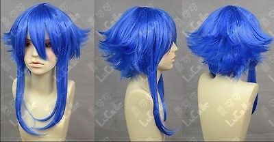iLoveCos Holloween Wigs for Men Cosplay Short Party Hair Costume Wig Blue