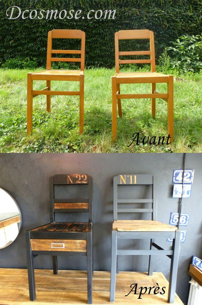 plus beaux meilleurs relooking meuble meuble buffetcommode bois ancien chaises d tournement d. Black Bedroom Furniture Sets. Home Design Ideas