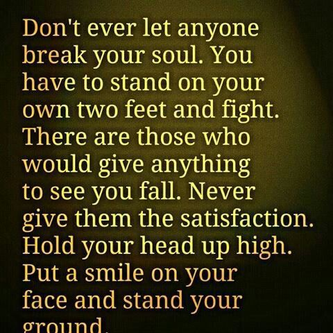 Never Give...